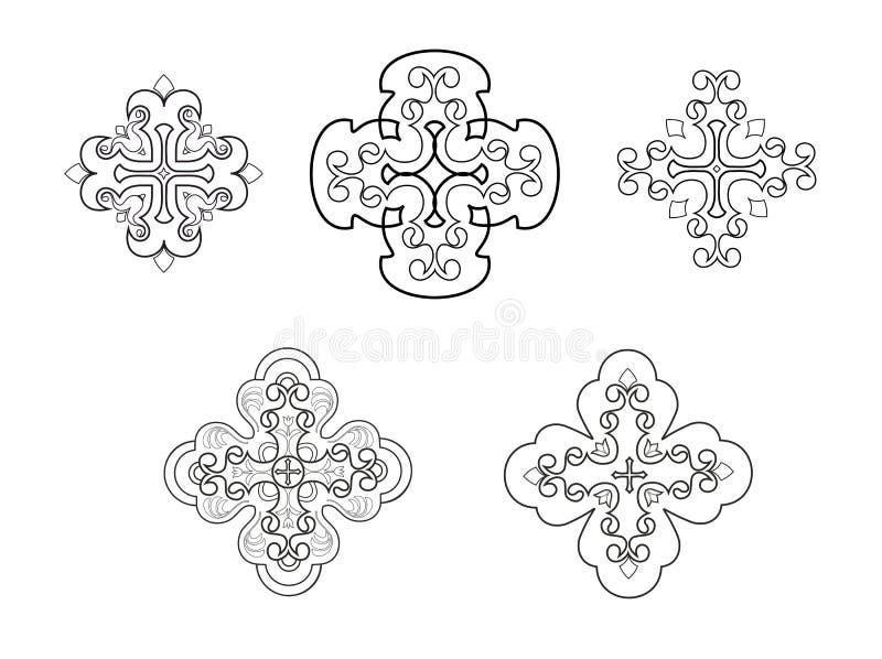 christiana krzyż royalty ilustracja