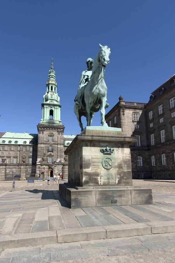 Christianborg, danish parlament royalty free stock image