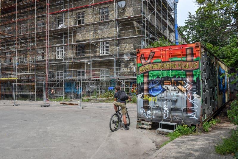 Christiania alternativ gemenskap på Köpenhamnen på Danmark arkivbilder