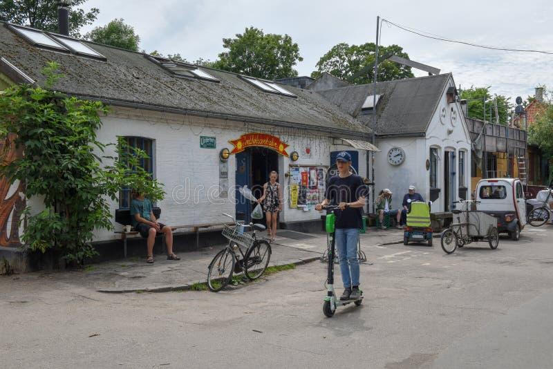 Christiania alternativ gemenskap på Köpenhamnen på Danmark royaltyfri bild