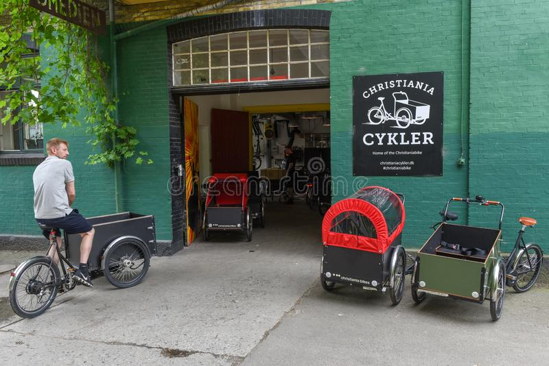Christiania alternativ gemenskap på Köpenhamnen på Danmark royaltyfria foton