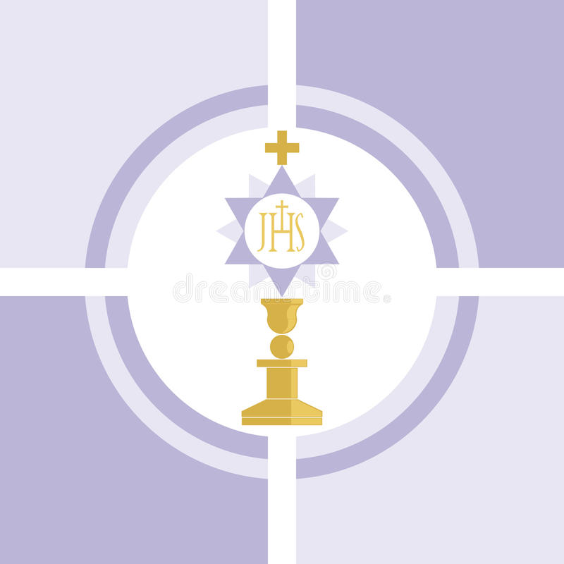 Christianity. Vector of a symbol of the Christian religion / Communion royalty free illustration