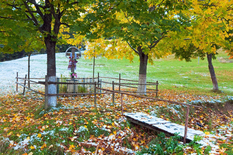 Download Christianity Cross Near Autumn  Road Stock Photo - Image: 22297524