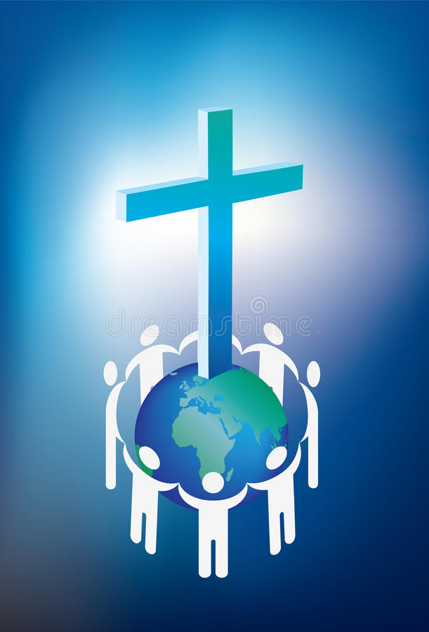 Christianity and world royalty free stock image