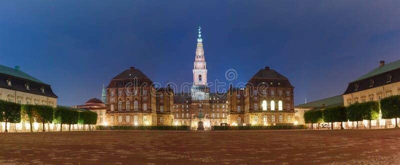 Christiansborg宫殿在哥本哈根,丹麦 免版税库存照片