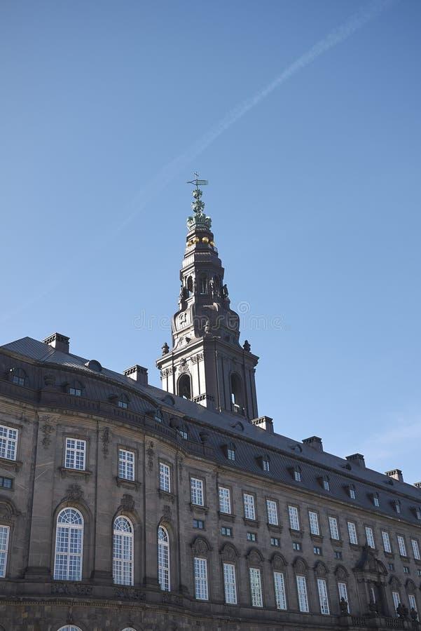 Christiansborg宫殿看法  库存照片