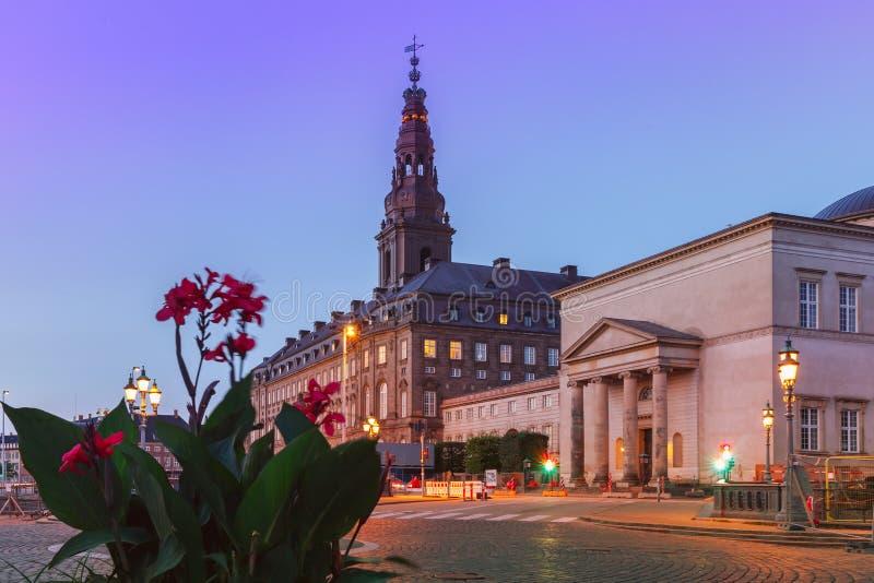Christiansborg宫殿,哥本哈根,丹麦 免版税库存图片