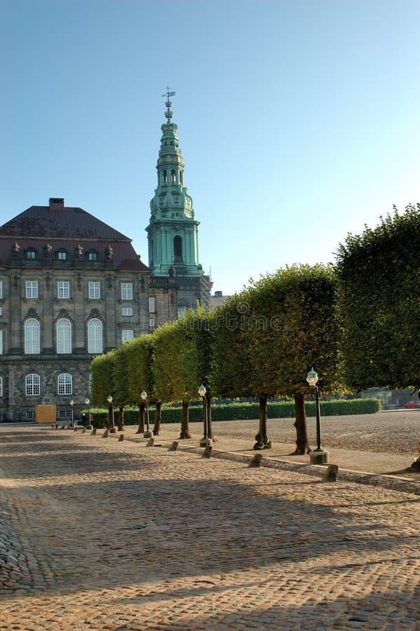 Christiansborg Copenhaghen immagini stock libere da diritti