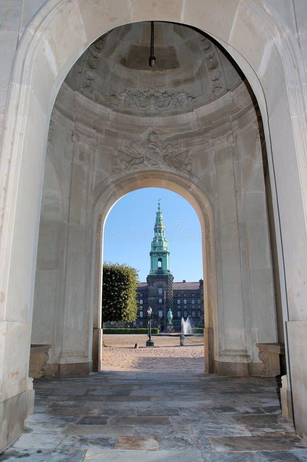 Christiansborg Copenhaghen fotografia stock libera da diritti