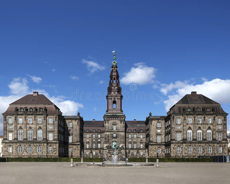 Christiansborg Palast Haus des dänischen Parlaments lizenzfreie stockfotografie
