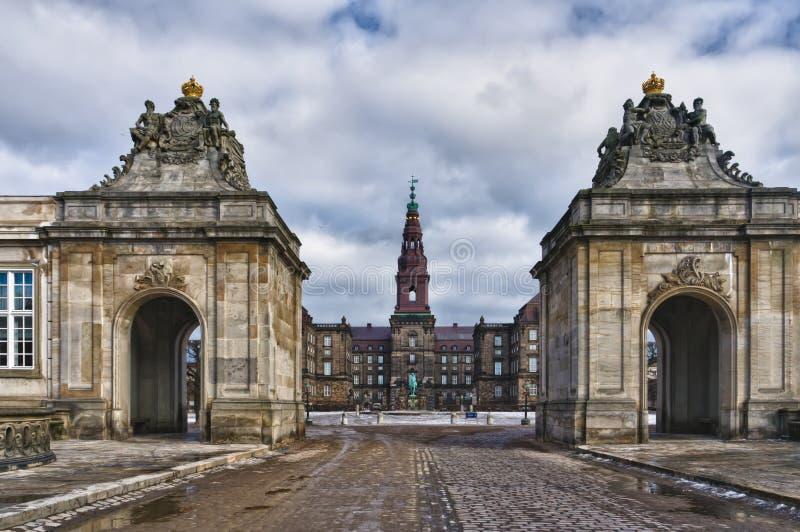 christiansborgdanishparlament royaltyfria foton