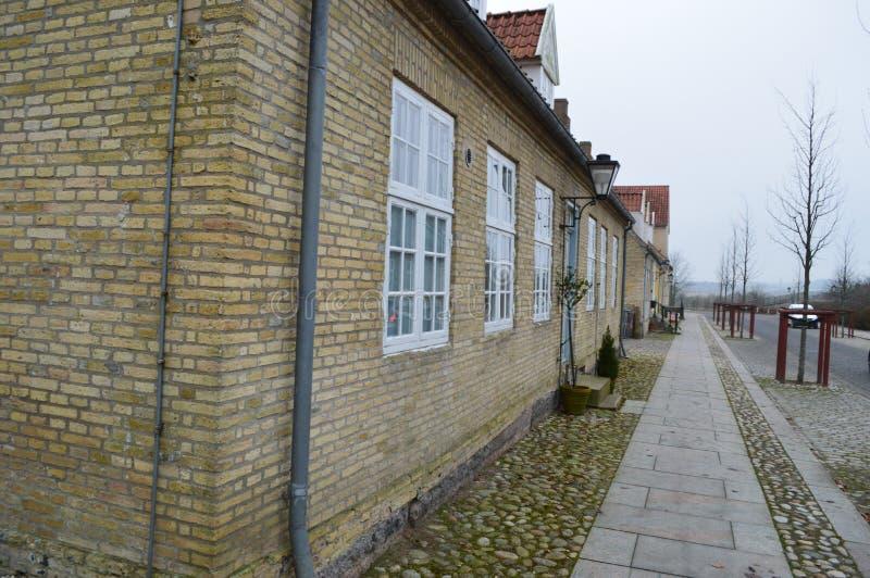 Christiansfeld en Moravian kyrkabosättning royaltyfri bild