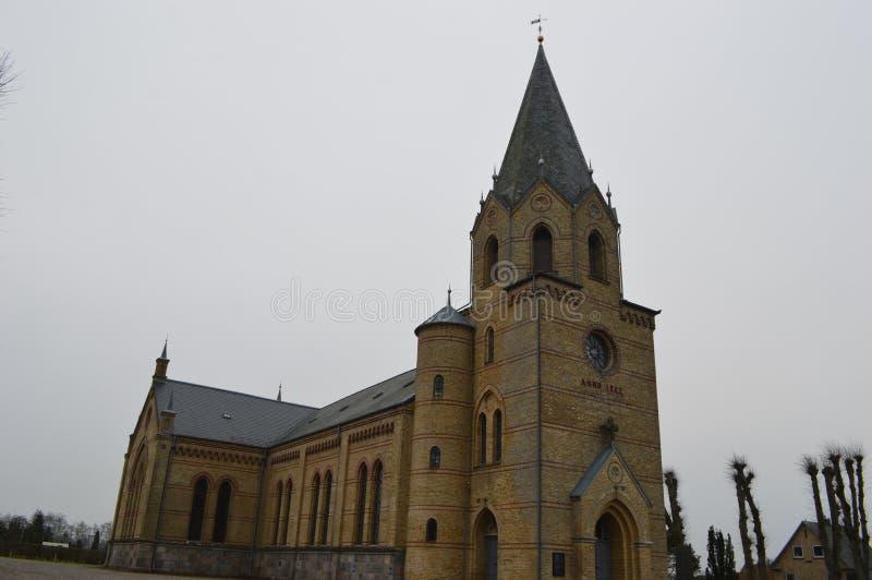 Christiansfeld en Moravian kyrkabosättning arkivbilder