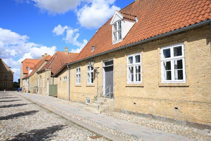 Christiansfeld i Jutland, Danmark royaltyfria foton