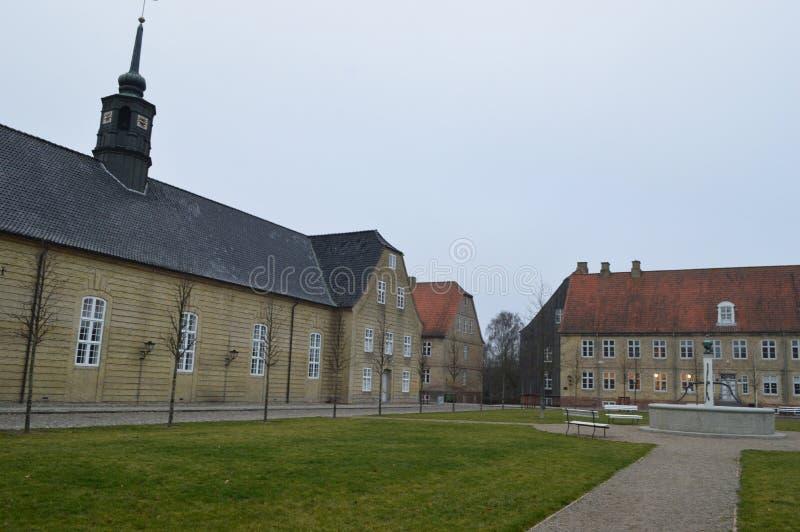 Christiansfeld, un acuerdo de la iglesia de Moravian imagen de archivo libre de regalías
