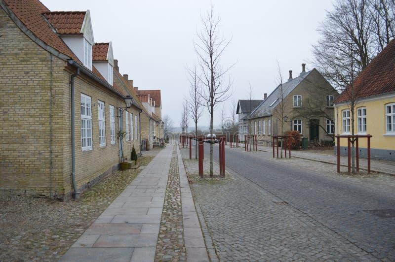 Christiansfeld, un acuerdo de la iglesia de Moravian fotografía de archivo