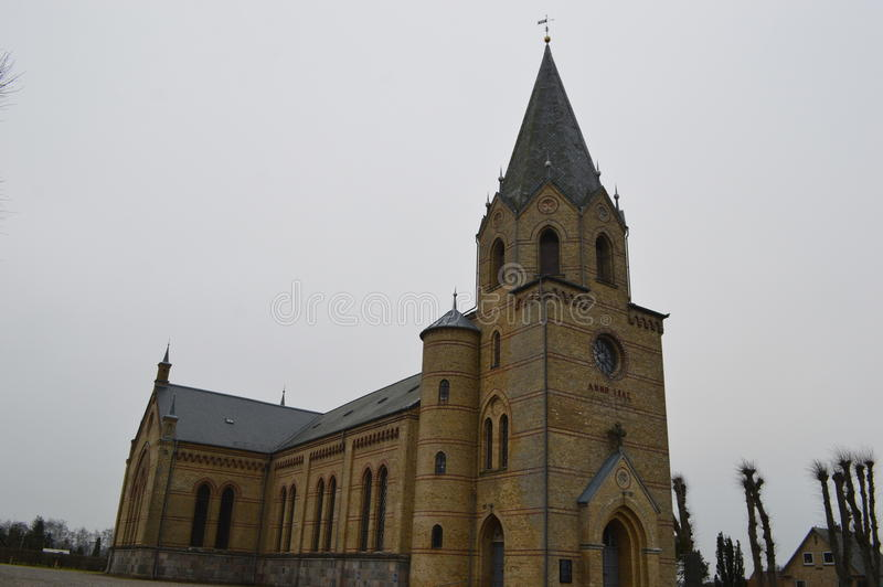 Christiansfeld, un acuerdo de la iglesia de Moravian imagenes de archivo