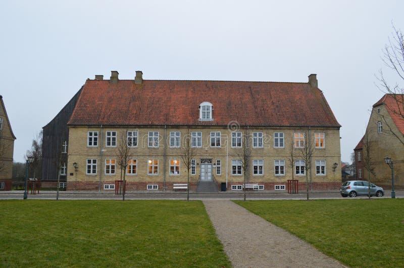 Christiansfeld, uno stabilimento della chiesa di Moravian immagini stock