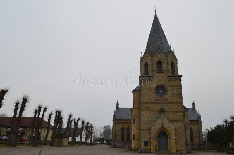 Christiansfeld, uno stabilimento della chiesa di Moravian immagini stock libere da diritti