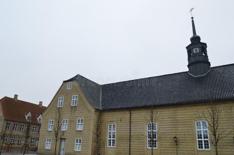 Christiansfeld, uno stabilimento della chiesa di Moravian immagine stock libera da diritti