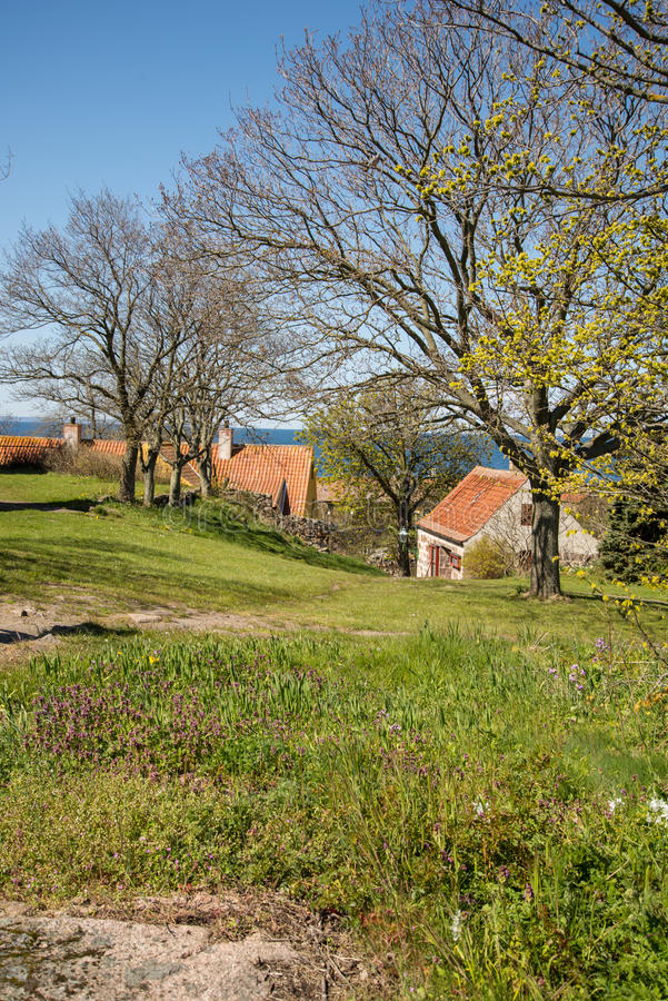 Christianso. Is a group of small islands not far from Bornholm, Danmark. There are only 100 inhabitants. There are not many tourists. The islands are placed on royalty free stock photos