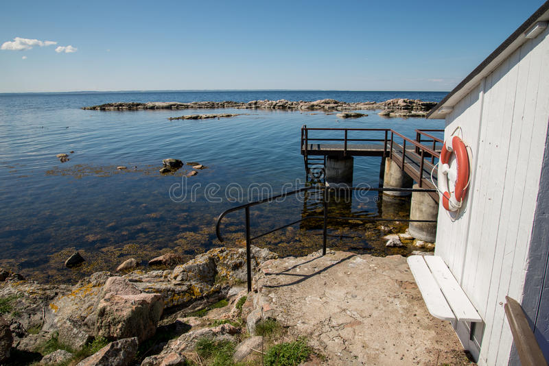 Christianso. Is a group of small islands not far from Bornholm, Danmark. There are only 100 inhabitants. There are not many tourists. The islands are placed on stock photo