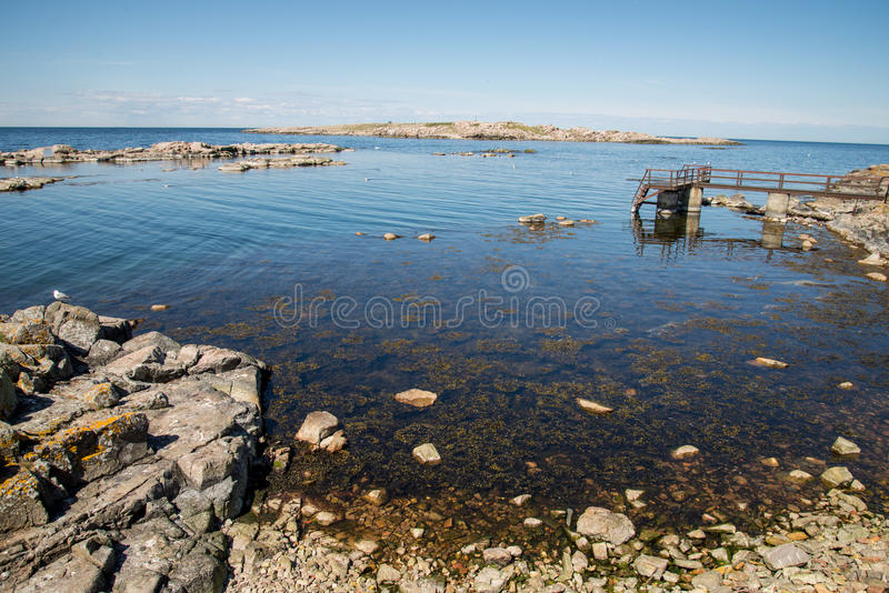 Christianso. Is a group of small islands not far from Bornholm, Danmark. There are only 100 inhabitants. There are not many tourists. The islands are placed on royalty free stock photo
