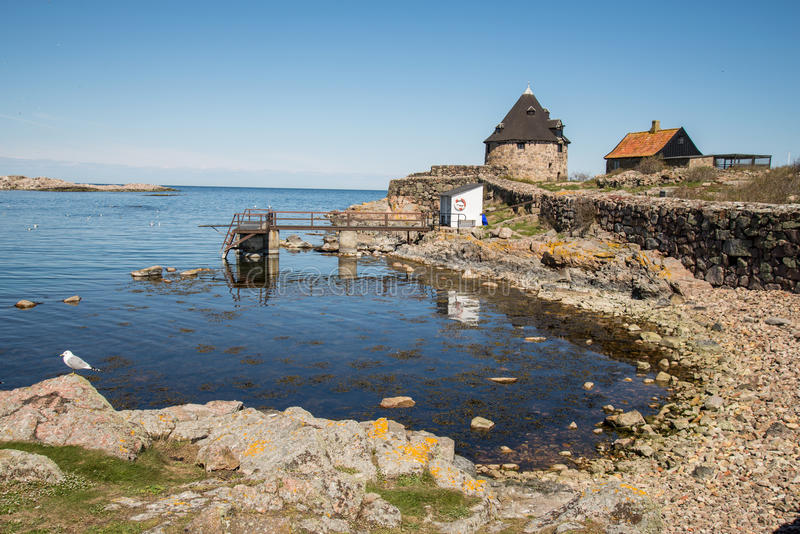 Christianso. Is a group of small islands not far from Bornholm, Danmark. There are only 100 inhabitants. There are not many tourists. The islands are placed on royalty free stock images