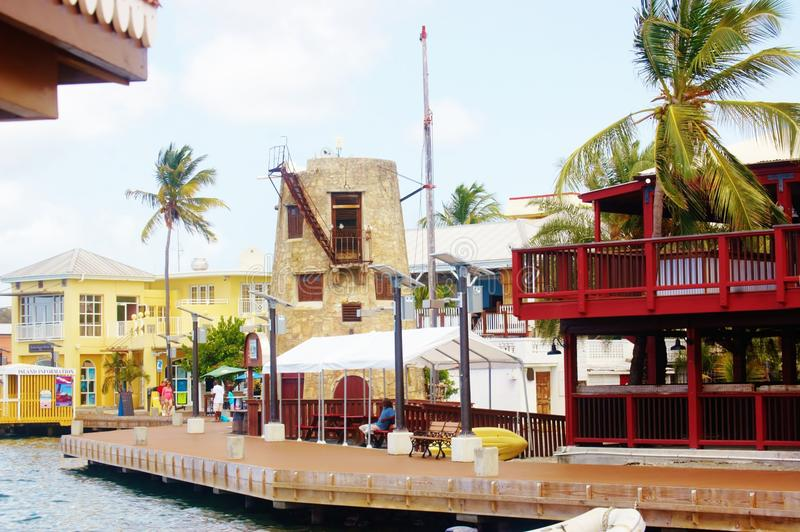 Christiansted boardwalk us virgin islands. One of the landmark in Christiansted , St Croix, US Virgin Islands is its boardwalk , where visitors can have chance stock photos