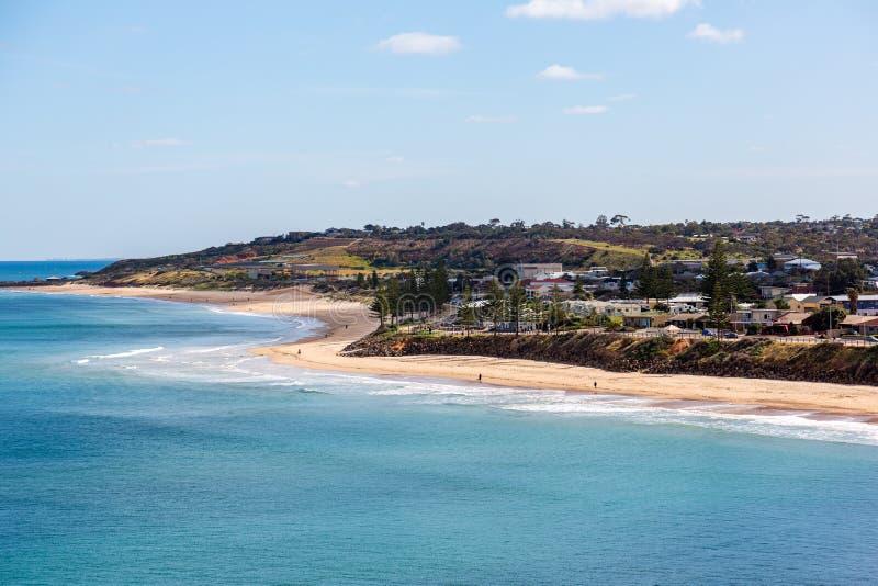 Christies Beach Foreshore am sonnigen Tag in Adelaide South Australia am 9. Oktober 2019 lizenzfreies stockbild