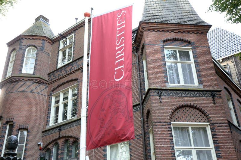 Christies Builing在阿姆斯特丹 免版税库存图片