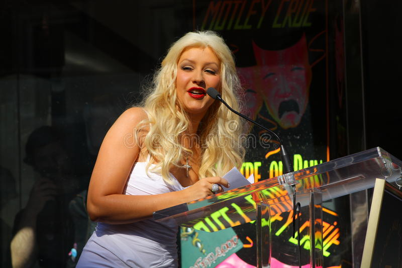 Christina Aguilera imagen de archivo