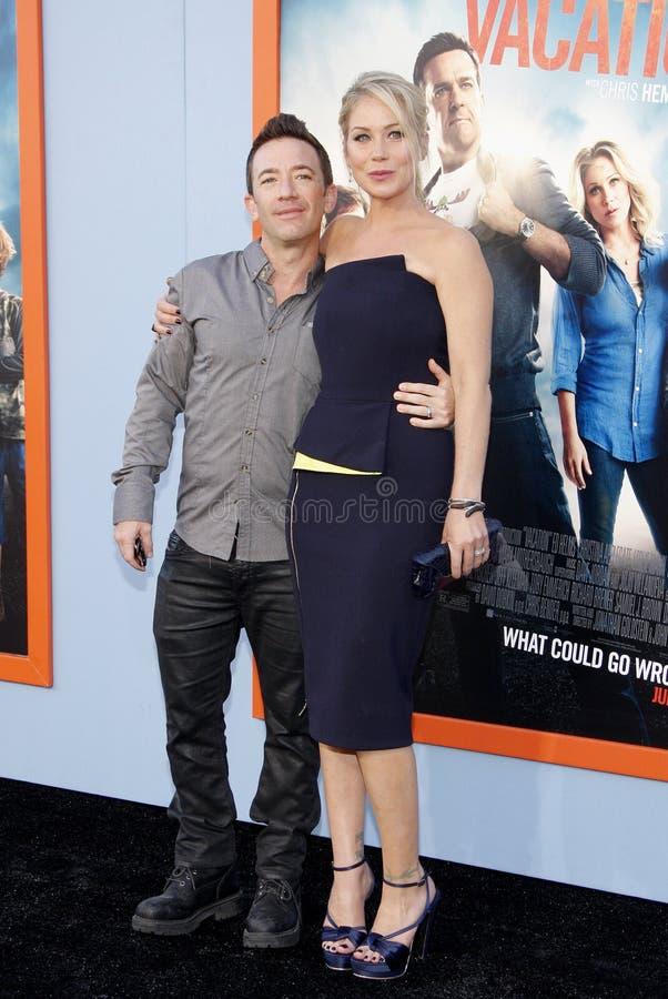 Christina Applegate Faustino i David zdjęcia stock