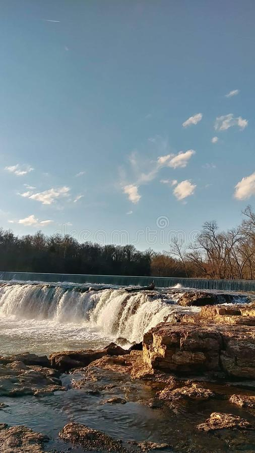 Christina Farino Waterfall en la primavera Joplin Missouri fotos de archivo libres de regalías