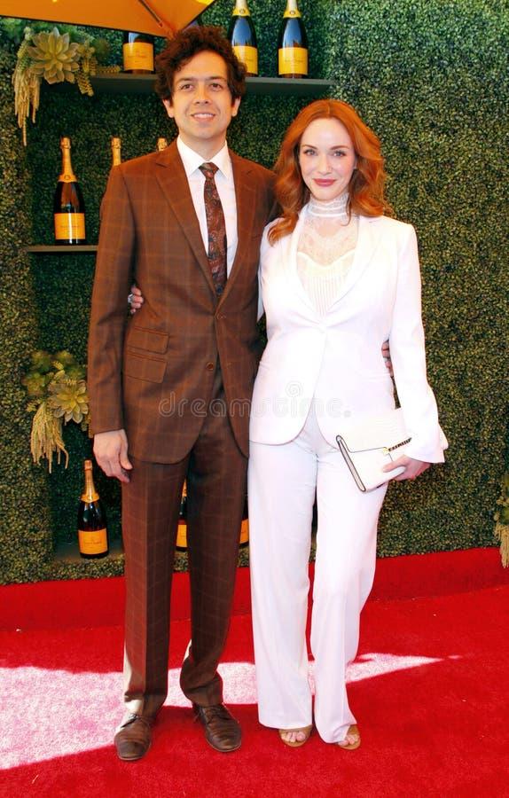 Christina Hendricks e Geoffrey Arend imagem de stock
