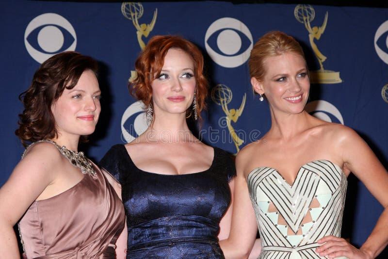 Christina Hendricks, musgo de Elisabeth, janeiro Jones, CHRISTINA HENDRICK imagem de stock
