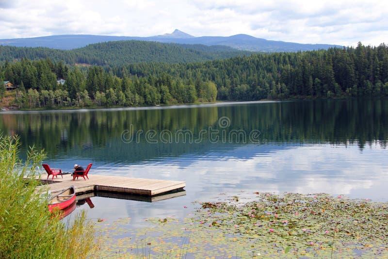 Christina jezioro, kolumbiowie brytyjska obrazy stock