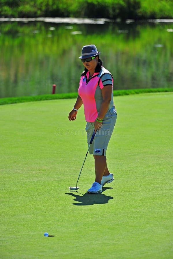 Christina Kim LPGA coulant dans le 9ème image libre de droits