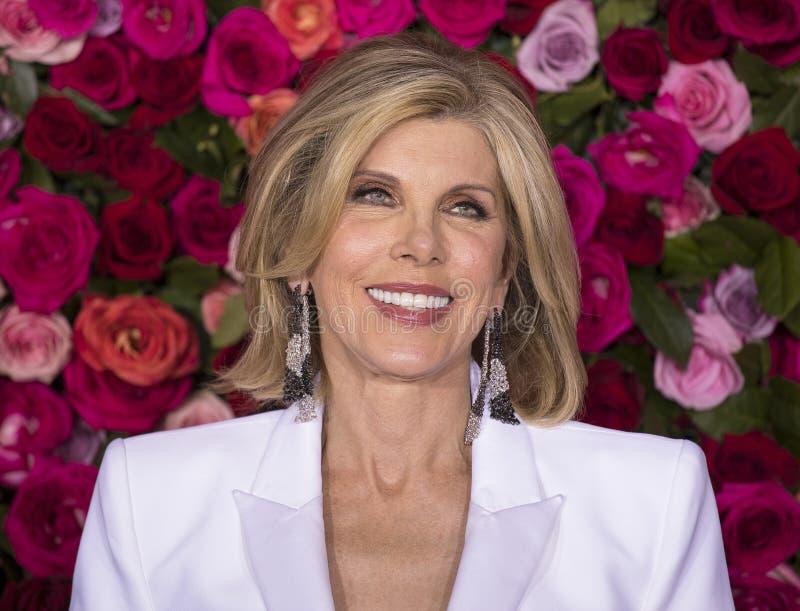 Christine Baranski chez Tony Awards 2018 images stock