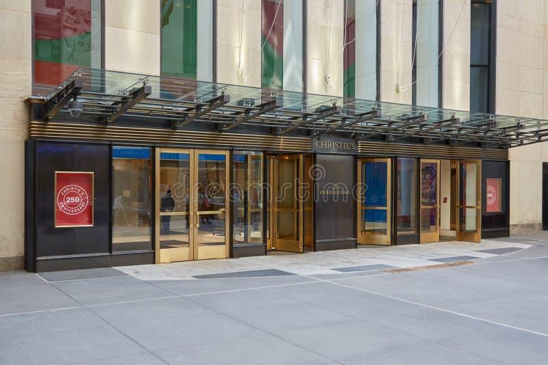 Christine domu aukcyjnego amerykanina gałąź wejście w Nowy Jork fotografia stock