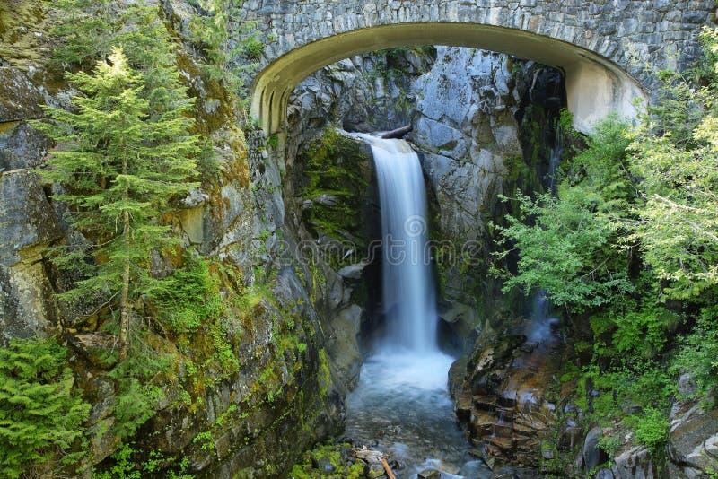Christine Falls à Mt Rainier National Park images stock