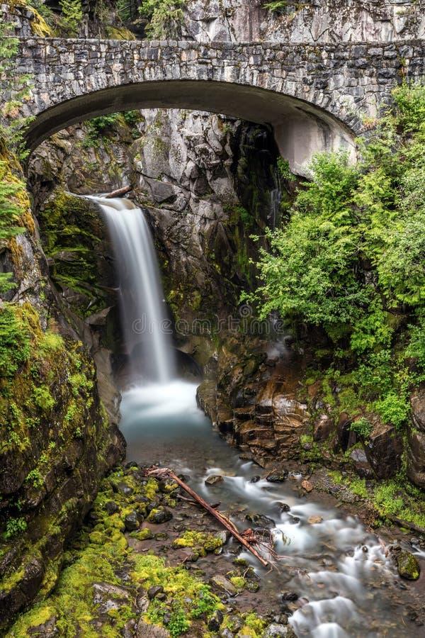 Christine Falls du mont Rainier photo libre de droits