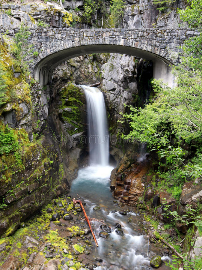 Christine Falls no Monte Rainier imagem de stock