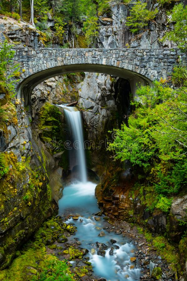 Christine Falls Tumbles Over Cliff images stock