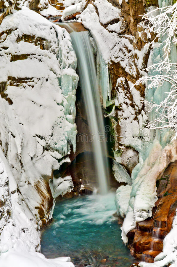 Christine Falls In Winter Stock Images