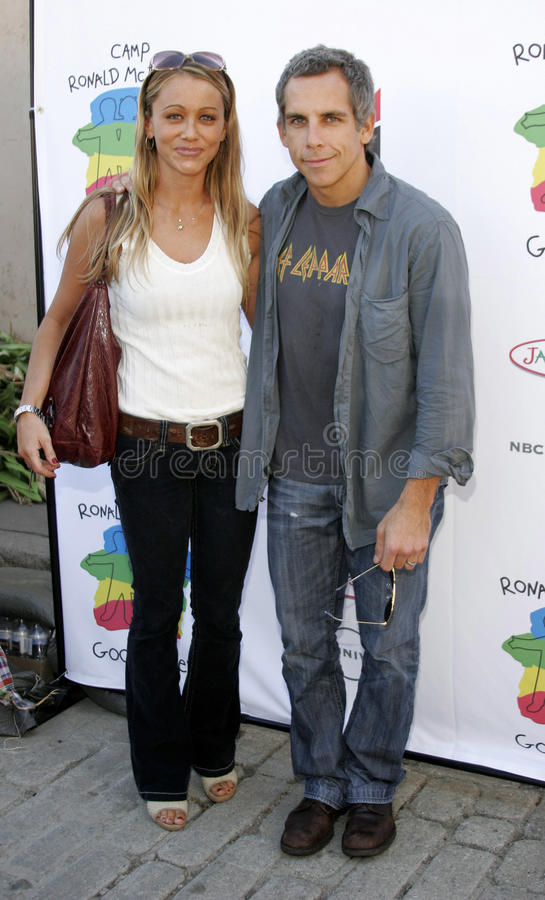 Christine Taylor en Ben Stiller royalty-vrije stock afbeeldingen