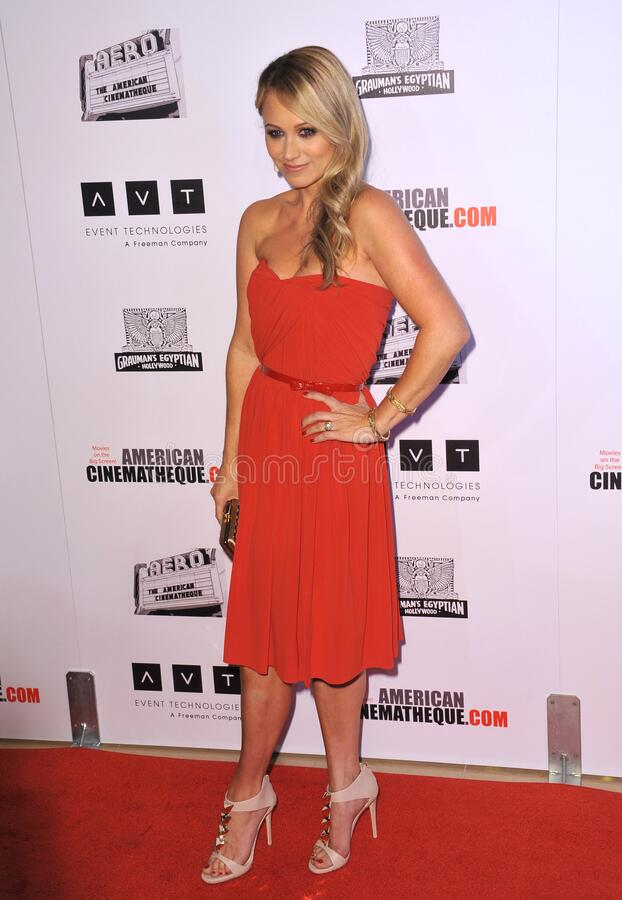 Christine Taylor. LOS ANGELES, CA - November 15, 2012: Christine Taylor at the 26th Annual American Cinematheque Awards Ceremony honoring her husband Ben Stiller royalty free stock photo