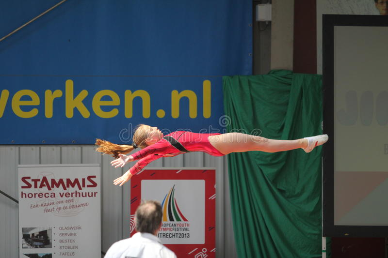 Christine Tol. OJTS talent of the Netherlands here in action stock photos