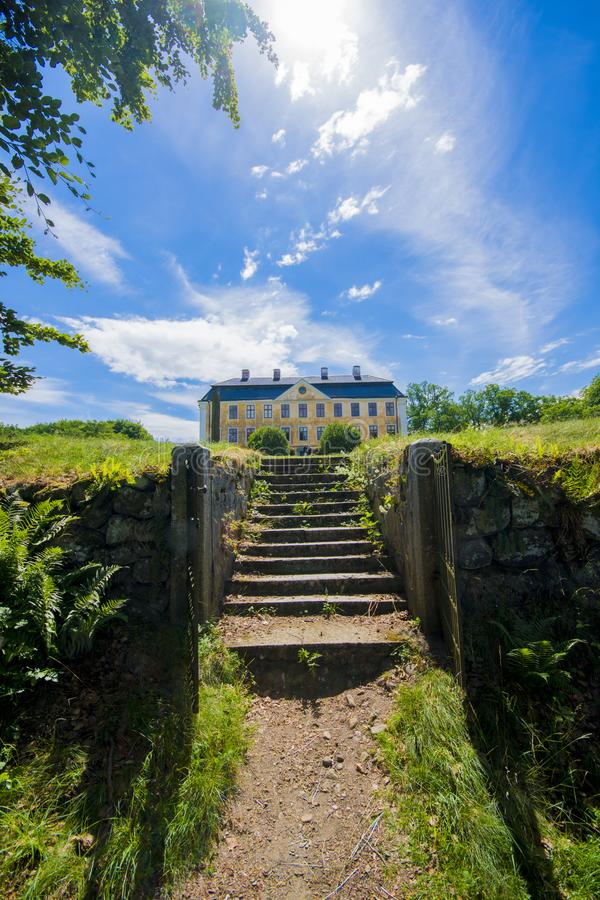 Christinehofs Castle in sweden on a summer day stock image