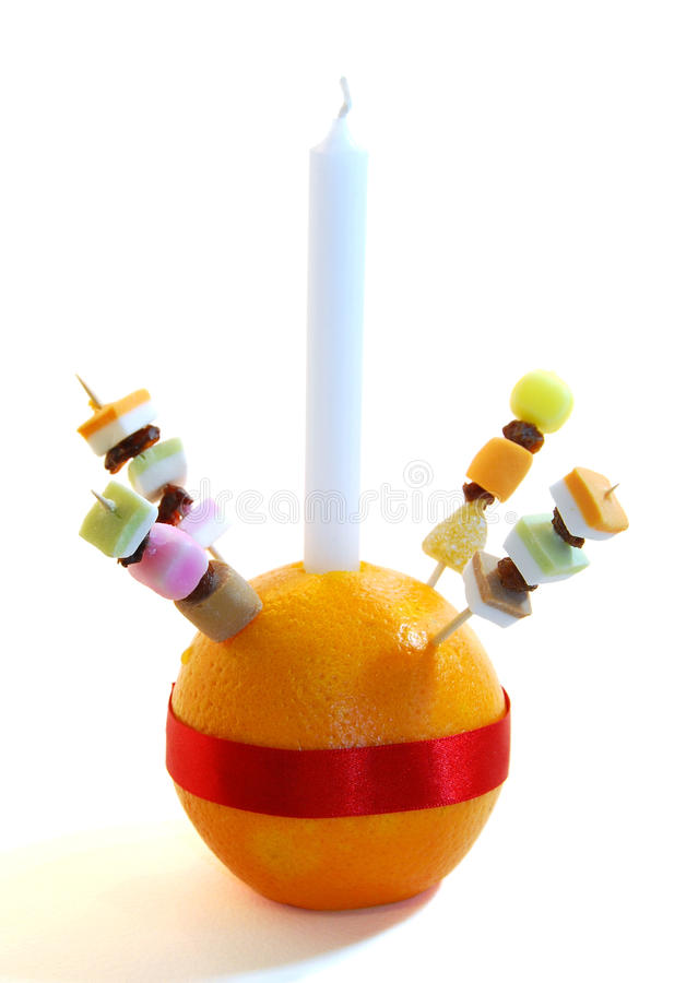 Christingle Orange. A Christingle orange used as a symbol in Christmas services held for children